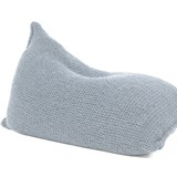 Knitted woolen bean bag - grey 4