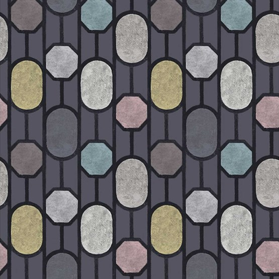 ESTE Wallpaper, Dark Blue - Design : Tenue de Ville