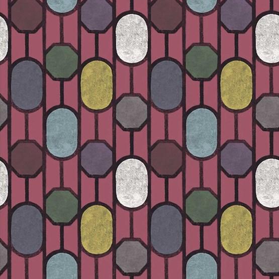 ESTE Wallpaper, Burgundy - Design : Tenue de Ville