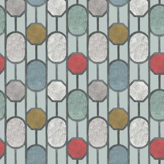 Papier peint ESTE, vert pâle - Design : Tenue de Ville