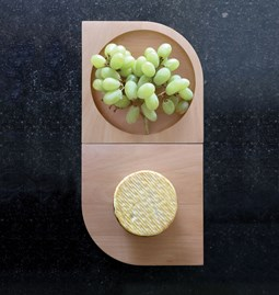 REVERSO wooden board/cup - Designerbox