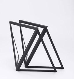 Tréteaux en acier (ensemble de deux) - noir