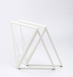 Tréteaux en acier (ensemble de deux) - blanc