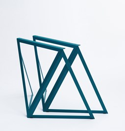 Tréteaux en acier (ensemble de deux) - bleu