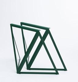 Tréteaux en acier (ensemble de deux) - vert