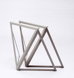 Tréteaux en acier (ensemble de deux) - gris