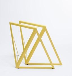 Tréteaux en acier (ensemble de deux) - jaune