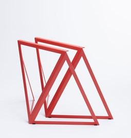 Tréteaux en acier (ensemble de deux) - rouge