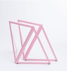 Tréteaux en acier (ensemble de deux) - rose