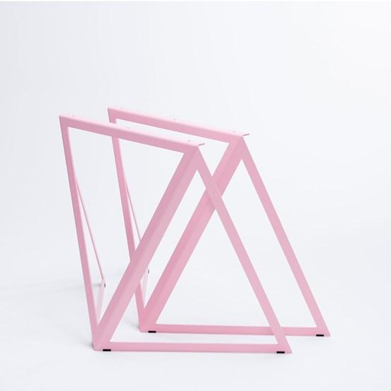 Tréteaux en acier (ensemble de deux) - rose - Design : NEO/CRAFT