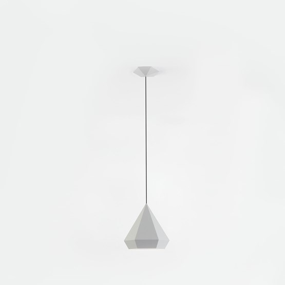DIAMOND Pendant Light - light grey - Design : NEO/CRAFT