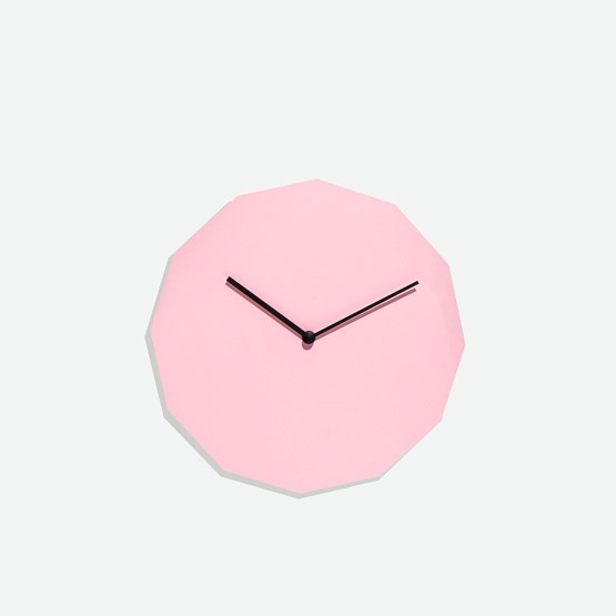 TWELVE clock - pink - Design : NEO/CRAFT
