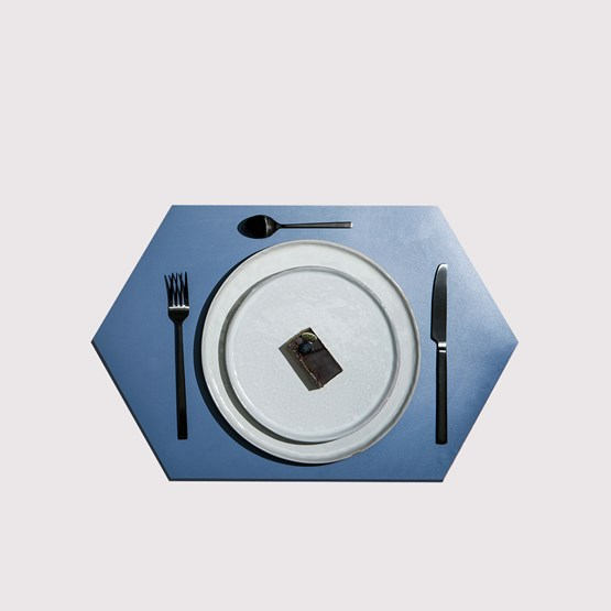 RUBBER MAT placemats (Set of 4) - blue - Design : NEO/CRAFT