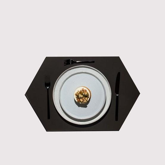 RUBBER MAT placemats (Set of 4) - black - Design : NEO/CRAFT