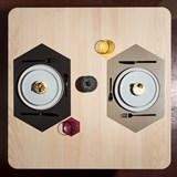 RUBBER MAT placemats (Set of 4) - black 5