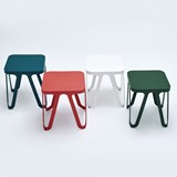 LOOP Stool - white 3