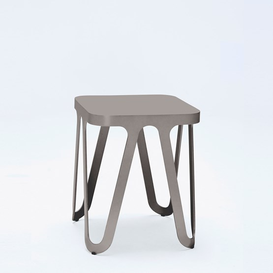 Tabouret LOOP - gris anthracite - Design : NEO/CRAFT