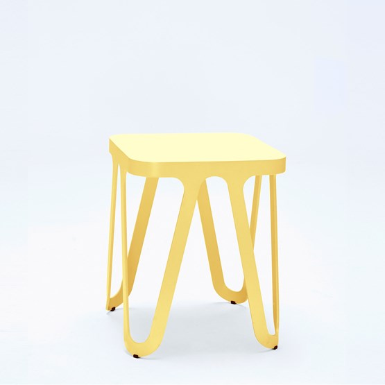 Tabouret LOOP - jaune - Design : NEO/CRAFT