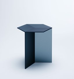 ISOM SQUARE Side Table - black frosted