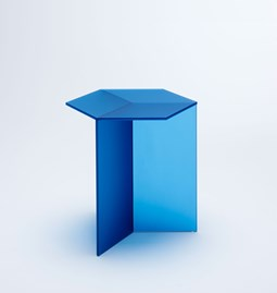 Table d'appoint ISOM SQUARE - bleu dépoli