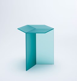ISOM SQUARE Side Table - green frosted