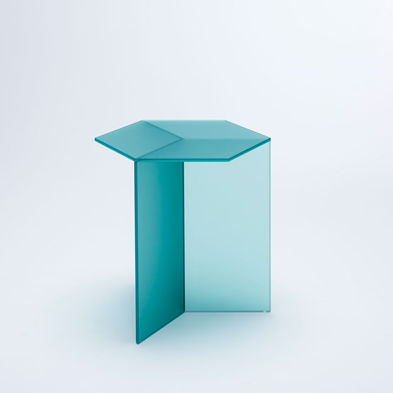 ISOM SQUARE Side Table - green frosted - Design : NEO/CRAFT