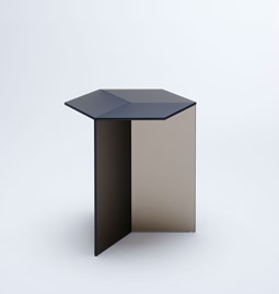 ISOM SQUARE Side Table - bronze frosted