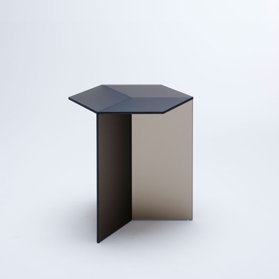 ISOM SQUARE Side Table - bronze frosted  - Design : NEO/CRAFT