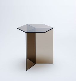 ISOM SQUARE Side Table - bronze