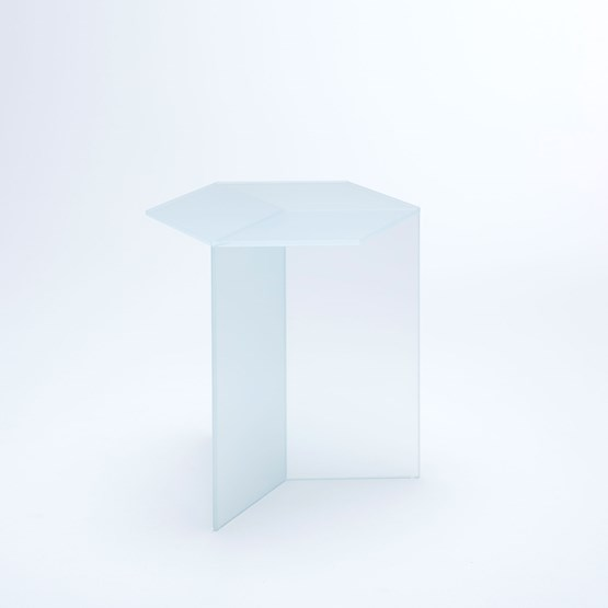 ISOM SQUARE Side Table - white frosted  - Design : NEO/CRAFT