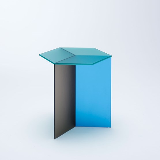 Table d'appoint ISOM SQUARE - multicolore dépoli - Design : NEO/CRAFT