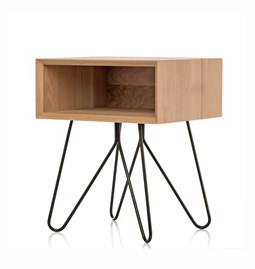 NOVE | bedside table - black legs
