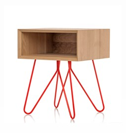 NOVE | bedside table - red legs