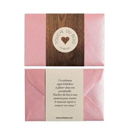 Carte Talisman Touche du bois - rose