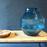 Vase rond TRACE - duck blue 3