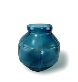 TRACE round vase - duck blue