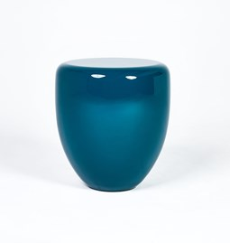 DOT side table - peacock blue