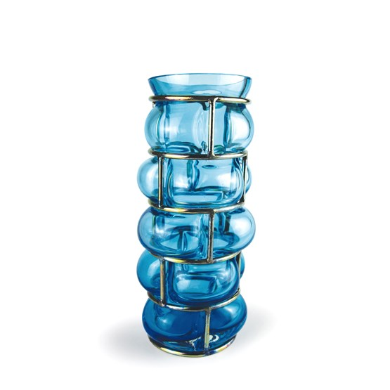 Vase BRICK - ice blue - Design : Vanessa Mitrani