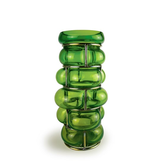 Vase BRICK - jungle green - Design : Vanessa Mitrani