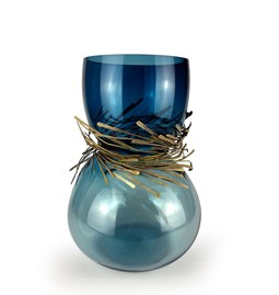 CABARET vase - duck blue