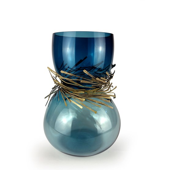 Vase CABARET - duck blue - Design : Vanessa Mitrani