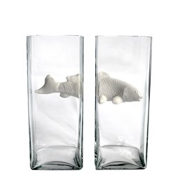 NO LIMIT Double Vase - white