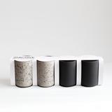 Set of 4 coffee cups - dark grey & speckled 6
