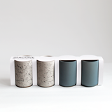 Set of 4 coffee cups | teal & speckled 4