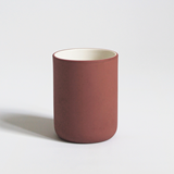 Set of 4 coffee cups | terracotta & speckled  3
