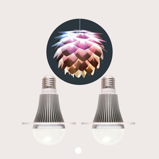 CMYK design bulbs - set of 2 - Design : Studio Dennis Parren