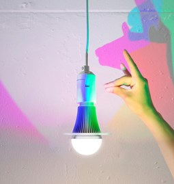 CMYK design bulbs - set of 2