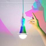 Diamond Pendant Light with CMYK Bulb  6