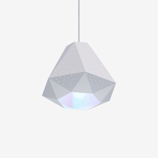 Diamond Pendant Light with CMYK Bulb  - Design : Studio Dennis Parren