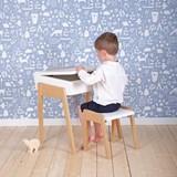 Bureau + Tabouret enfant 3/6 ans My Little Pupitre - blanc 4